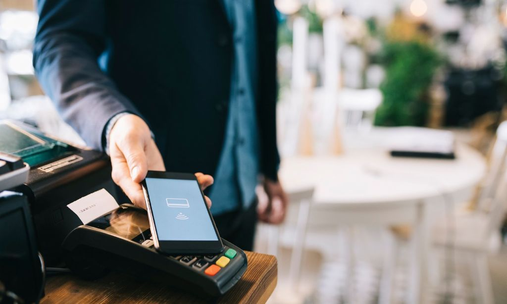 Digital payment: You place your phone on a payment terminal