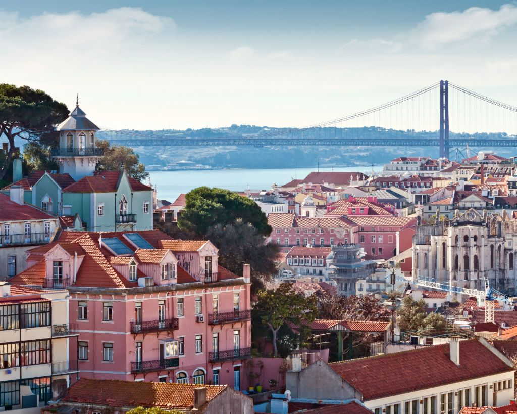 View over the rooftops of Lisbon